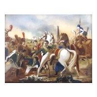 19th C Miniature Oil Painting-Napolean Battle Scene I