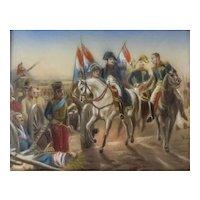 19th C Miniature Oil Painting-Napolean Battle Scene II
