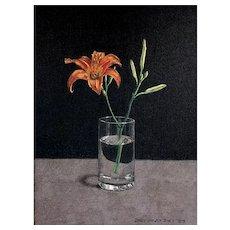 Original Acrylic Still Life Painting by Listed Virginia Artist,  James Warwick Jones