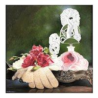 Original Gouache Painting by Contemporary Artist, Lynn Ponto-Peterson-Cupid
