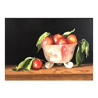 """Original Watercolor Painting by Contemporary Artist, Lynn Ponto-Peterson, """"Cherry Plums"""""""