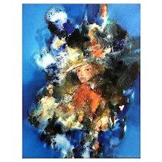 Original Oil Painting by Listed Artist, Vincent Carneiro (Brazilian: 1927-2005)
