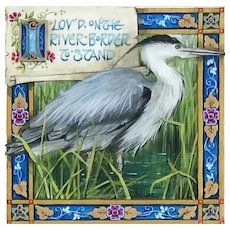 """Miniature Painting by Debby Faulkner-Stevens-""""I Lov'd on the River Border to Stand"""""""