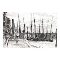 Billingsgate, Original Etching by James Abbott McNeill Whistler