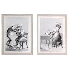 Original Antique Engravings by T. Hollis after a Drawing by  J. Mason