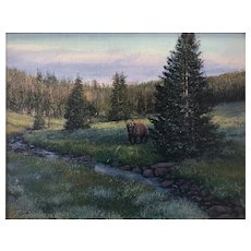"""Original Oil Painting by Listed Artist Travis Humphreys- """"Boss of the Valley"""""""