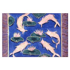 """Mixed Media Painting on Rice Paper-""""Koi"""""""