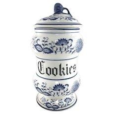 Vintage Blue Onion Cookie Jar by Arnart Japan