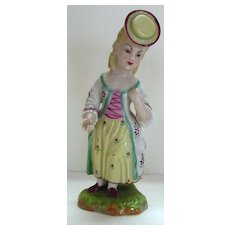 Antique Porcelain Figurine of a Young Lady by Hochst