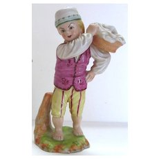 Antique Porcelain Figurine of a Young Boy by Hochst