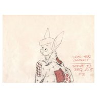 Pinocchio Pencil Drawing by Walt Disney Studios