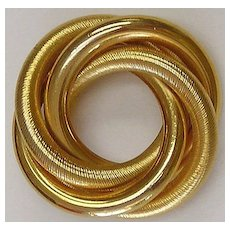 Four Circle Gold Tone Pin / Brooch - Vintage