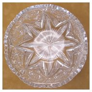 Libbey American Brilliant Period Cut Glass Bowl