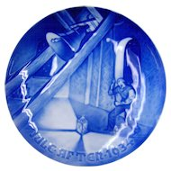 1934 Christmas Collector's Plate by Bing & Grondahl