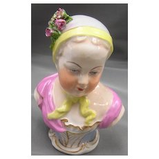 Antique Porcelain Bust of a Young Woman - Serves