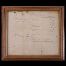 19th C Slave & Property Tax Document - Virginia