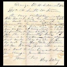 19th Century Slave Document From Orange County, VA