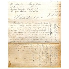 Bill of Sale, Slaves for Lincoln County, Kentucky Estate, Circa 1845-1846