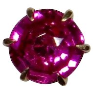 Antique Edwardian Art Deco 10K Gold Ruby Solitaire Stick Pin