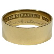 Antique 14K Gold Scottish Rites Masonic Mason's Plain Band Ring
