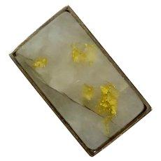 Antique Victorian 10K 22K Gold Vein in Quartz Stick Pin