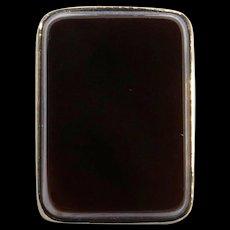 Antique Edwardian 10K Gold Layered Sardonyx Agate Stick Pin