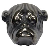 Antique Art Nouveau Sterling Silver Bulldog Bull Dog Stick Pin