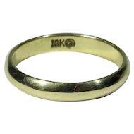 Vintage 18K Gold Wedding Band Ring