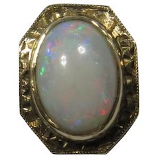 Antique Edwardian 10K 14K Gold Opal Stick Pin
