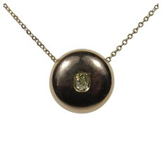 Victorian 18K 14K Rose Gold Diamond Stick Pin Conversion Pendant Necklace