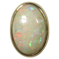 Antique Edwardian 14K Gold Firey & Colourful Opal Stick Pin