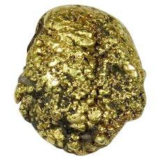 Antique Victorian 14K & 21K Gold Nugget in Quartz Stick Pin