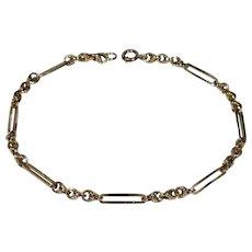 Antique Victorian 9CT Rose Gold Trombone Fancy Link Bracelet