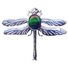 Ammolite Dragonfly Brooch
