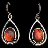 Red Ammolite Earrings