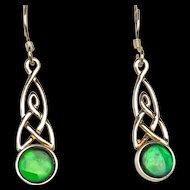 Ammolite Earrings in Celtic Setting