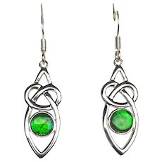 Ammolite Earrings in Celtic Setting