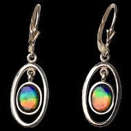 Ammolite Earrings - Tricolor!