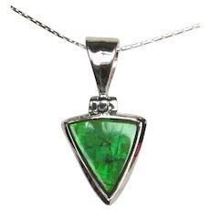 Triangular Green Ammolite Pendant