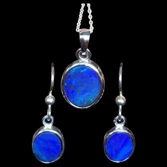 Australian Opal Pendant and Earring Set