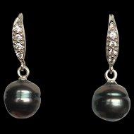 Tahitian Black Pearl Earrings