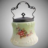 Victorian Wave Crest Biscuit Jar Mt. Washington Cookie Cracker Barrel Jar circa 1890s