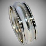 1920s Birmingham English Sterling Silver Napkin Ring No Monogram