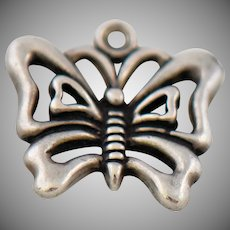 Vintage Butterfly Sterling Charm Pendant by Sunwest Silver Company for Bracelet or Necklace