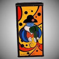 Vintage Romero Britto Collectible Tin Advertising Creme De Grand Marnier Liqueur