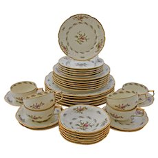 Rosenthal Sanssouci Pastorale Dinner Table Service for Six Wedding Roses Anniversary 36 Pieces