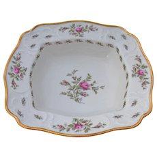 Rosenthal Sanssouci Ivory Rose Pastorale Porcelain Square Vegetable Serving Bowl 11 Inches