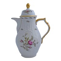 Rosenthal Continential Sanssouci Coffee Pot Ivory Rose Pastorale Pattern 11 Inches