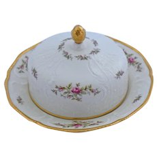 Rosenthal Sanssouci Butter Covered Serving Dish Ivory Rose Pastorale Pattern