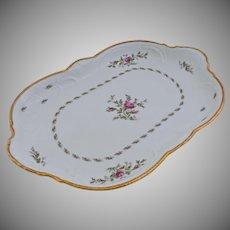 Rosenthal Sanssouci Porcelain Serving Platter Ivory Rose Pastorale Extra Large 19.50 Inches